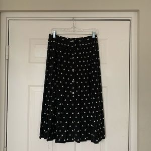 Liz Claiborne midi pleated skirt